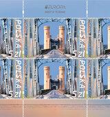 Most w Tczewie na znaczkach pocztowych