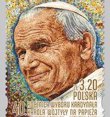 Poczta Polska: okolicznościowy znaczek z Janem Pawłem II w 40. rocznicę wyboru papieża Polaka