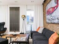 Mieszkanie dla singla: nowoczesność w duchu industrialu