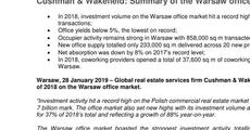 Cushman & Wakefield Summary of the Warsaw office market in 2018.pdf