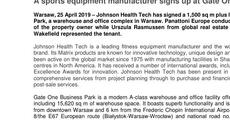 Press release_A sports equipment manufacturer signs up at Gate One Business Park  .pdf