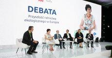 20190611_0383 DEBATA od lewej Florent Guhl, prof_ Ewa Rembialkowska, Flavio Paoletti, Jostein Hertwig, Birthe Linddal, Karol Krajewski.jpg