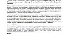 informacja prasowa_Dział Powierzchni Przemysłowych i Logistycznych Cushman  Wakefield wyróżniony nagrodą CEE Manufacturing  Logistics Award.pdf