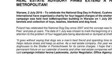 Press release_REAL ESTATE ADVISORY FIRMS EXTEND A HELPING PAW AT METROPOLITAN!  .pdf