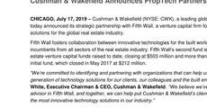 Press release_Cushman & Wakefield Announces PropTech Partnership with Fifth Wall.pdf