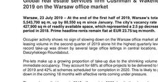 Press release_Global real estate services firm Cushman & Wakefield summarises H1 2019 on the Warsaw office market.pdf