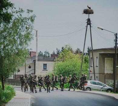 Szkolenie żołnierzy Wojsk Obrony Terytorialnej w SRO