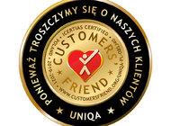 UNIQA z tytułem Customers' Friend – Przyjaciel Klientów
