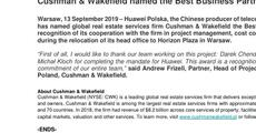 Press release_Cushman & Wakefield named the Best Business Partner 2019 by Huawei.pdf