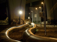"""Energa oświetliła budowę awaryjnego rurociągu oczyszczalni """"Czajka"""" [ mat. wideo ]"""