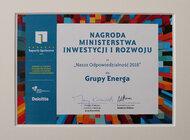 Energa z nagrodą Ministerstwa Inwestycji i Rozwoju [ mat. wideo ]