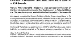 press release_Cushman & Wakefield titled Best Commercial Real Estate Agency of 2019 at CIJ Awards .pdf