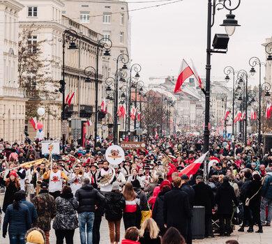 Festiwal Niepodległa na Krakowskim Przedmieściu - fot. Tomasz Tołłoczko