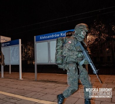 8 Kujawsko-Pomorska Brygada OT podczas szkolenia w Aleksandrowie Kujawskim - 17.11.2019