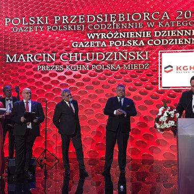 Polski Przedsiębiorca 2018 Gazety Polskiej Codzienne - Marcin Chludziński