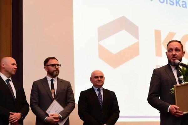 Nagrodę odebrał Rafał Pawełczak, Dyrektor Naczelny ds. Badań i Innowacji w KGHM Polska Miedź S.A.