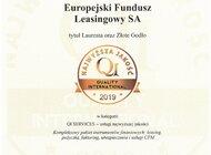 Jakość usług EFL nagrodzona Złotym Godłem