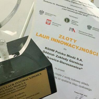 Złoty Laur Innowacyjności dla kopalni KGHM Polkowice-Sieroszowice