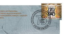 75_ rocznica wyzwolenia KLAuschwitz_kopertaFDC.jpg