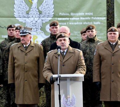 Przysięga żołnierzy Wojsk Obrony Terytorialnej w Gorzowie Wielkopolskim