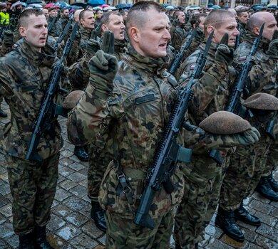 Pierwsza przysięga wojskowa żołnierzy WOT na Dolnym Śląsku