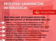 Poczta Polska przywraca wysyłanie przesyłek zagranicznych do niektórych krajów