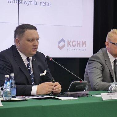 Prezes KGHM prezentuje wyniki Spółki