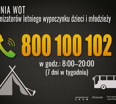 800-100-102 Infolinia wsparcia wypoczynku przez WOT
