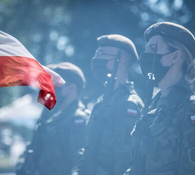 Przysięga wojskowa żołnierzy 10 Świętokrzyskiej Brygady OT