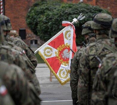 Pierwsza przysięga wojskowa na sztandar 8 Kujawsko - Pomorskiej Brygady OT