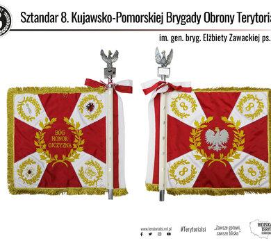 Sztandar 8 Kujawsko - Pomorskiej Brygady OT