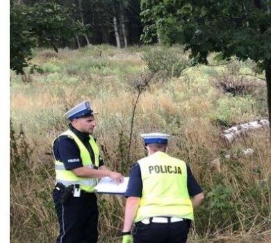 Droga 323 Leszno - Góra, gdzie w dniu 22 sierpnia doszło do poważnego wypadku samochodowego.