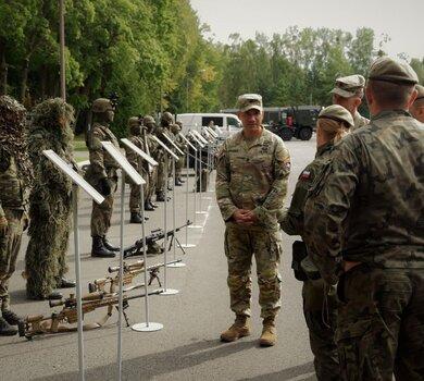 Amerykańscy żołnierze z wizytą w 4 Warmińsko-Mazurskiej Brygadzie OT