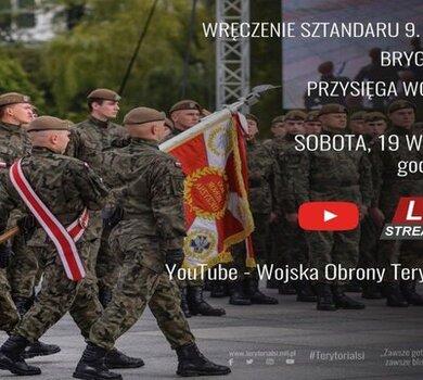 Wręczenie sztandaru 9. Łódzkiej Brygadzie Obrony Terytorialnej