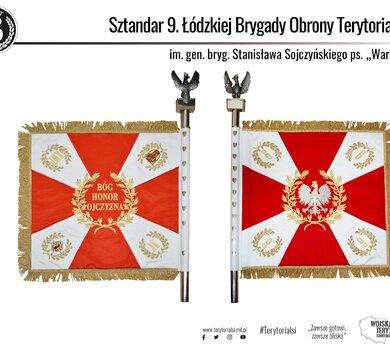 Sztandar wojskowy 9 Łódzkiej Brygady OT