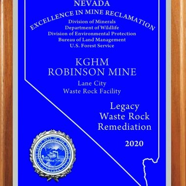The award for the Robinson Mine