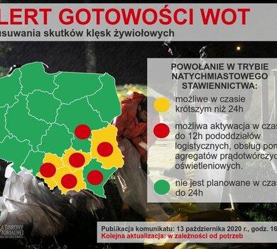 Podwyższenie alertu gotowości do działań kryzysowych WOT w dniu 14.10.2020 r.