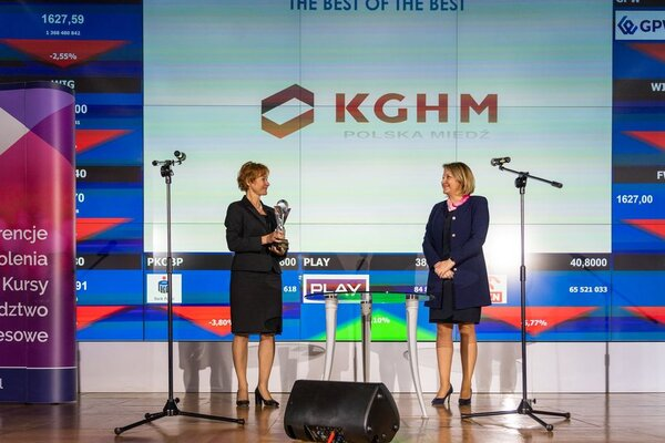 The Vice President (Finance) prof. Katarzyna Kreczmańska-Gigol received the award