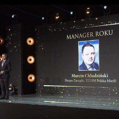 Nagroda dla prezesa Marcina Chludzińskiego Manager Roku - EuroPOWER