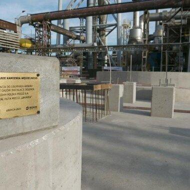 Huta Miedzi legnica- nowa instalacja do usuwania arsenu i rtęci