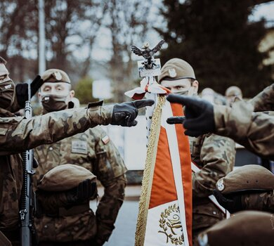 Przysięga żołnierzy 1 Podlaskiej Brygady OT