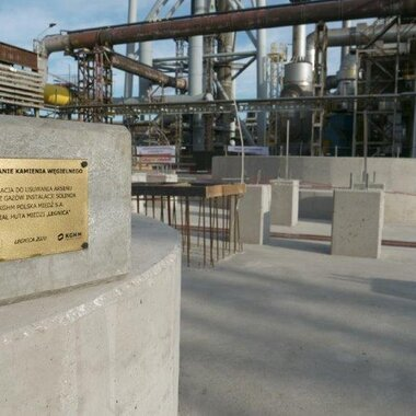 The new installation at the Legnica Smelter and Refinery