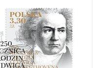 Znaczek pocztowy na urodziny Beethovena
