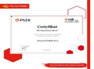 Poczta Polska z certyfikatem HR Najwyższej Jakości