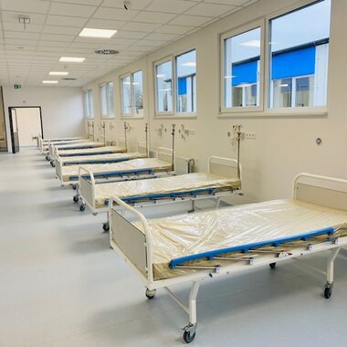 Completed modular hospital in Legnica