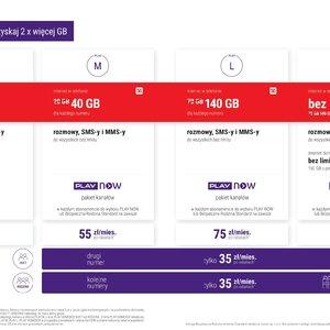 Najlepsza oferta na rynku - nawet 140 GB od 35 zł miesięcznie w nowych ofertach PLAY - ulotka