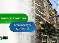 Zaległości czynszowe przekroczyły 175 mln zł, najczęściej nie płacą osoby po 55. roku życia