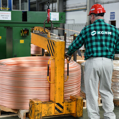 The Cedynia copper wire rod plant