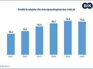 Spada wartość portfela kredytów udzielonych mikroprzedsiębiorcom
