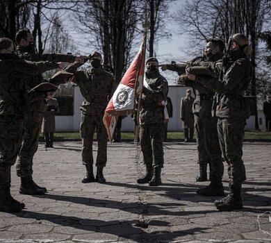 Przysięga wojskowa w 5 Mazowieckiej Brygadzie OT